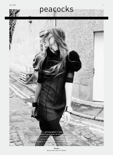 Peacocks   Volt Café   by Volt Magazine #beauty #design #graphic #volt #photography #art #fashion #layout #magazine #typography