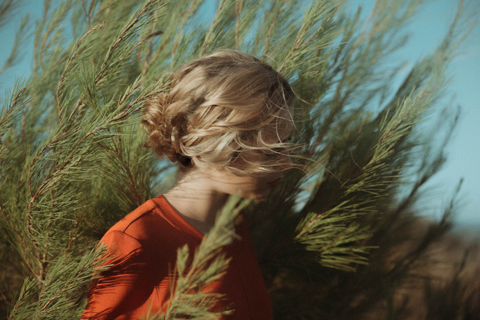 #nature #woman #red #photo #blonde #hair