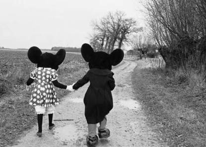 Baubauhaus. #white #mickey #holding #mouse #hands #black #photography #and