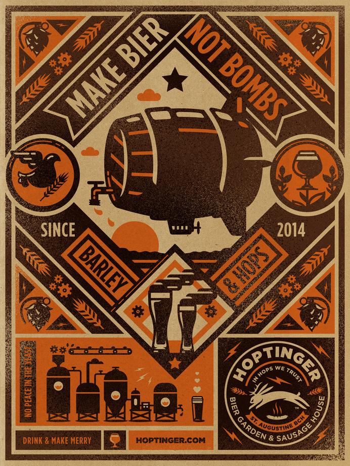 Hoptinger #hoptinger #illustration #bier #poster #kendrick kidd