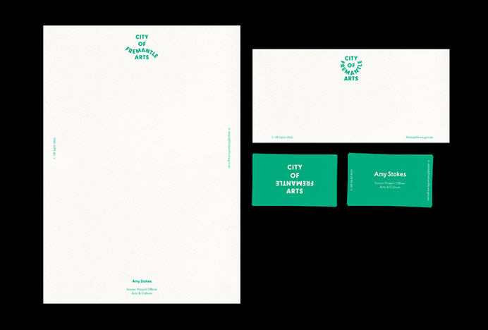 City Of Fremantle Arts by Corey James #branding #stationary #green