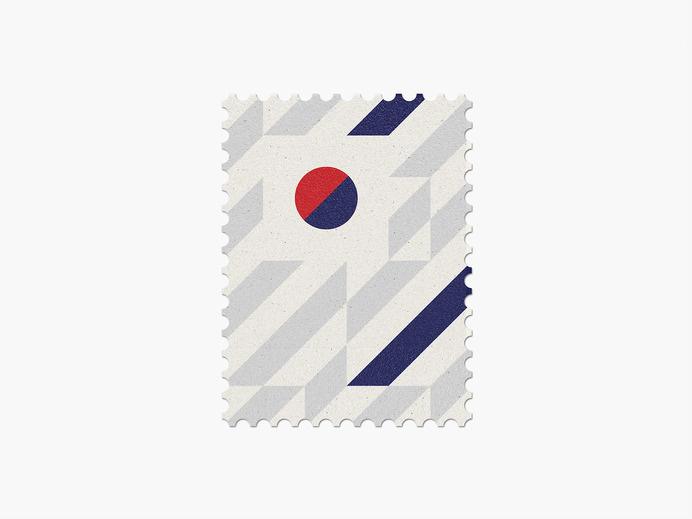 Korea Republic #stamp #graphic #maan #geometric #illustration #minimal #2014 #worldcup #brazil