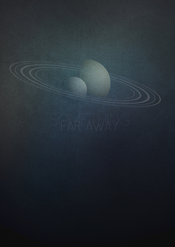 Something Far Away 4 #space #illustration #cosmos #poster #blue #planets #away #far