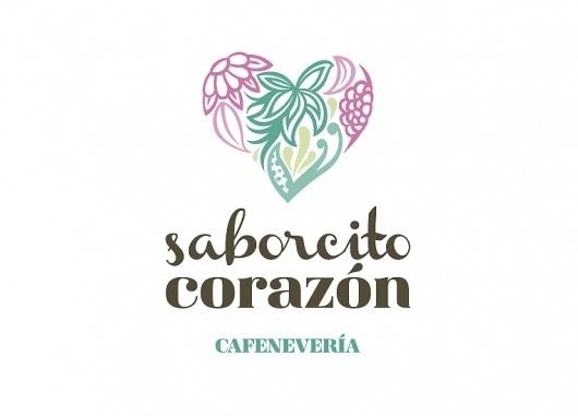 Más tamaños | Saborcito Corazón, cafenevería. | Flickr: ¡Intercambio de fotos! #heart #cream #identity #logo #ice #organic #flowers #corazon