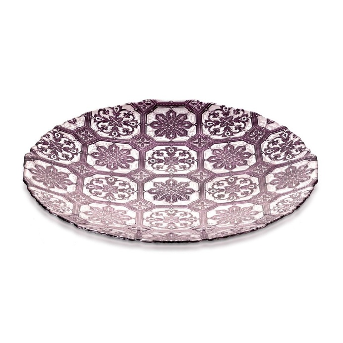 Bowl Safi Glass Purple 40cm