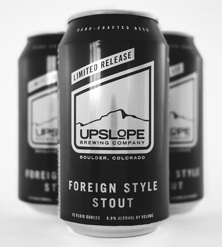 Upslope Brewing Foreign Style Stout Cans #packaging #beer #can #label