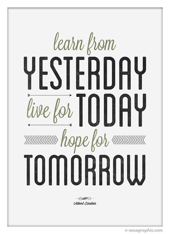 Inspirational Quote wall decor by NeueGraphic on Etsy #quote #print #decor #typographic #neuegraphic #poster #art
