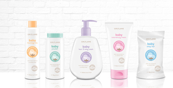 Oriflame baby care #packaging #product #cosmetic #baby