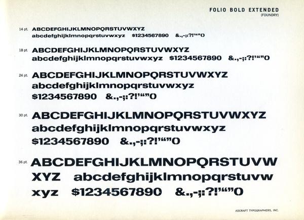 Folio Bold Extended type specimen #type #specimen #typography
