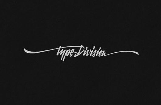 Type Division #calligraphy #logo #lettering
