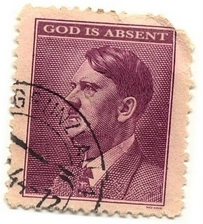 The Laughing Bone #stamp #god #wwii #hitler