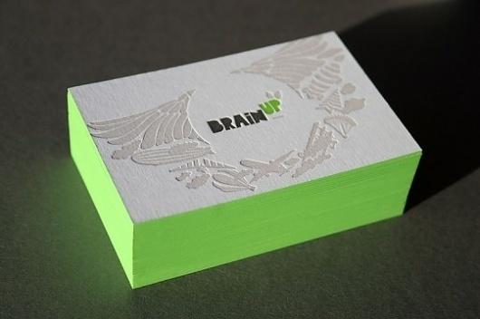 Blush°° Bespoke & custom letterpress printing in the UK #edge #business #card #design #paint #green