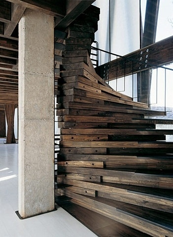 The most beautiful wooden staircase #wood #architecture #steps