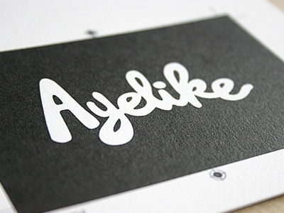 Dribbble - Full bleed solid ink by blush°° #business #branding #card #print #design #letterpress #typography