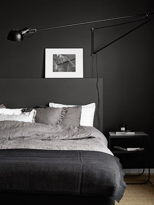 The Design Chaser: Dark Walls in the Bedroom | x 3 #interior design #decoration #decor #deco