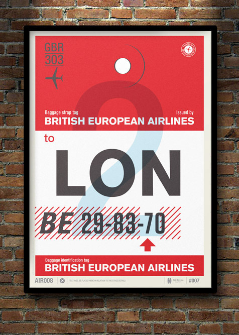 Flight Tag Prints #typography #poster #flight #tag