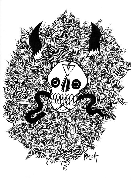supersonic electronic / art Stacey Rozich. #hair #illustration #skull