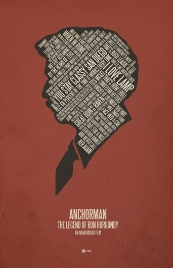 37 Posters - Society6 #anchorman #design #illustration #poster #typography