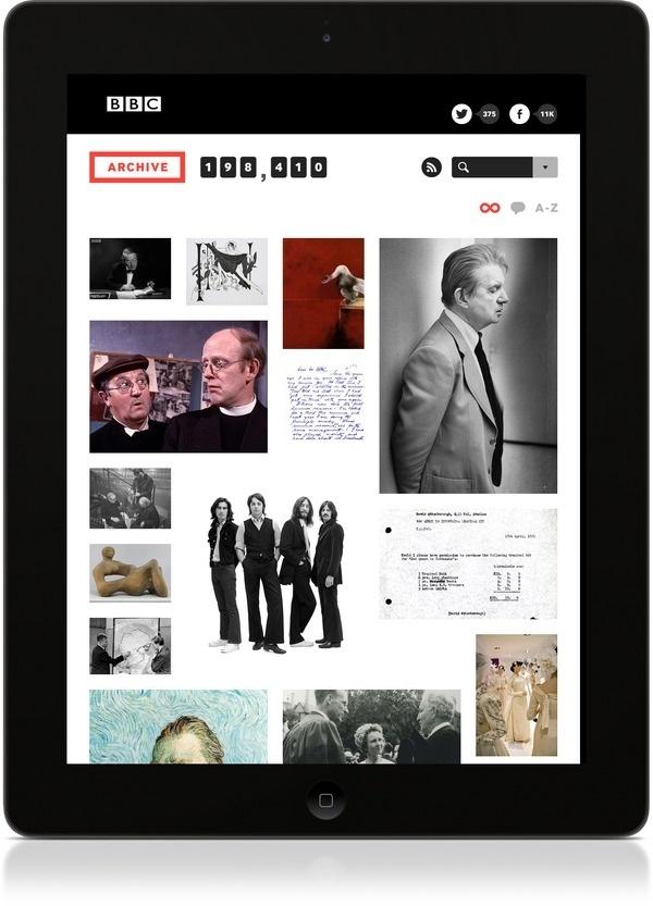 BBC Archive #ipad #app #website #bbc #archive #application #interaction