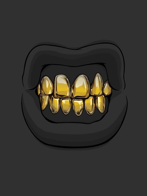 Goldie series by Gaks #teeth #illustration #gold
