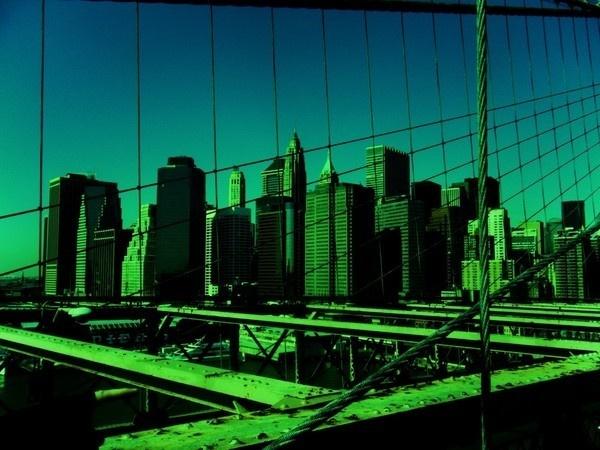 Nouvelle York 2010 on Behance #lines #wallb #new #york #bridge #green
