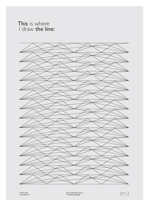 This Is Where I Draw The Line Poster by Martijn Michiel Maas #line #white #design #graphic #black #poster #and #graphics