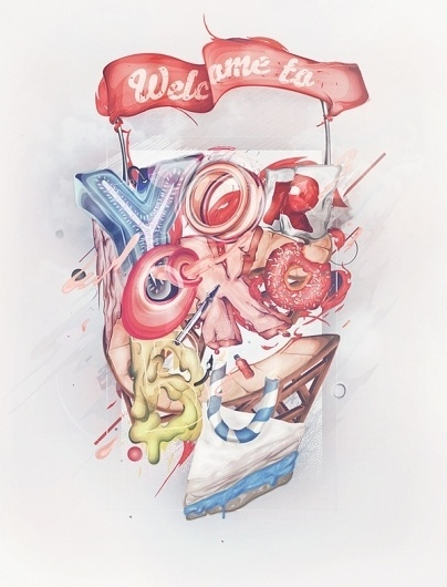 Last 2011 Illustrations on the Behance Network #color #illustration #written #poster #hand