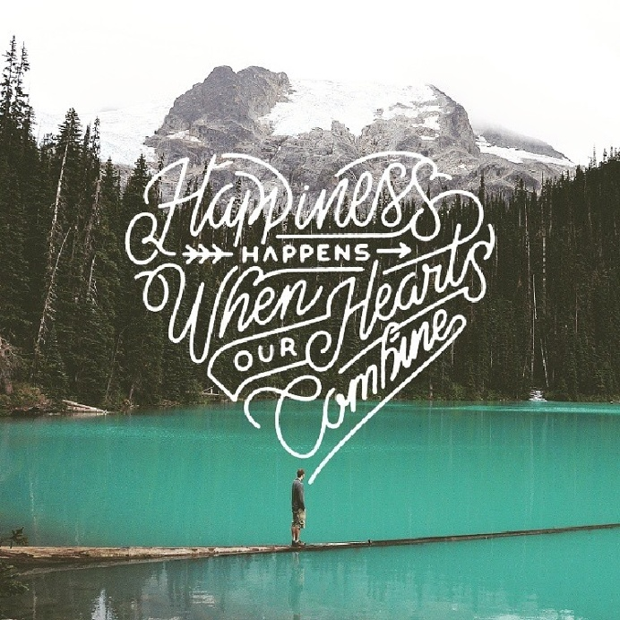 Happiness when our hearts combine