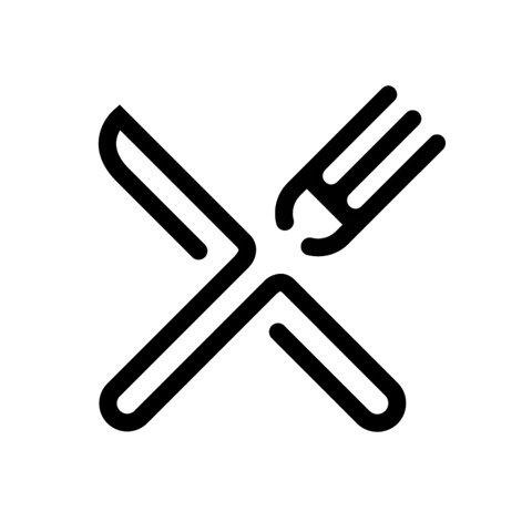Knife & fork #symbol #logo #knife #fork #canteen