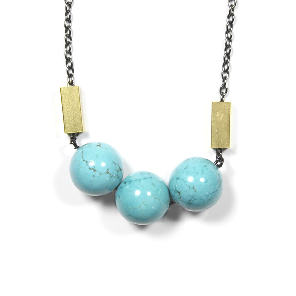 Turquoise Bauble Necklace #urban #aviary #jewelry #necklace