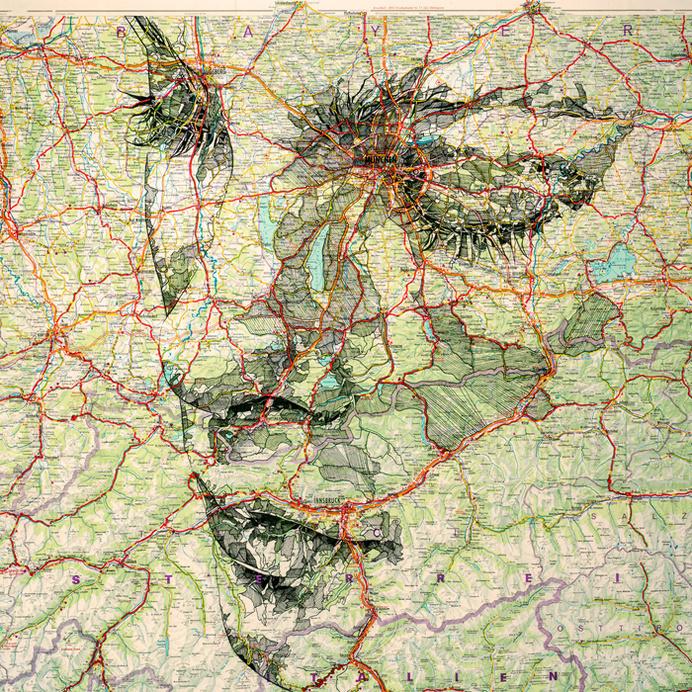 Deutschland #ink #travel #maps #portrait