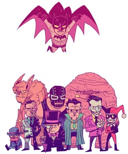 http://mrhipp.tumblr.com/page/4# #batman #illus #cartoons #illustration #comics
