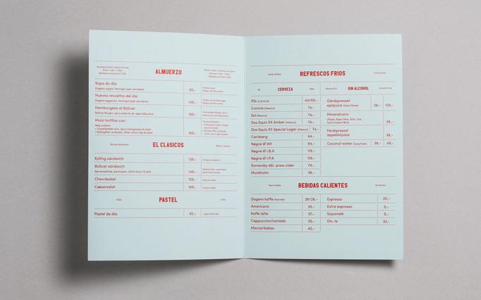 Bolivar #menu #identity #design #print #food