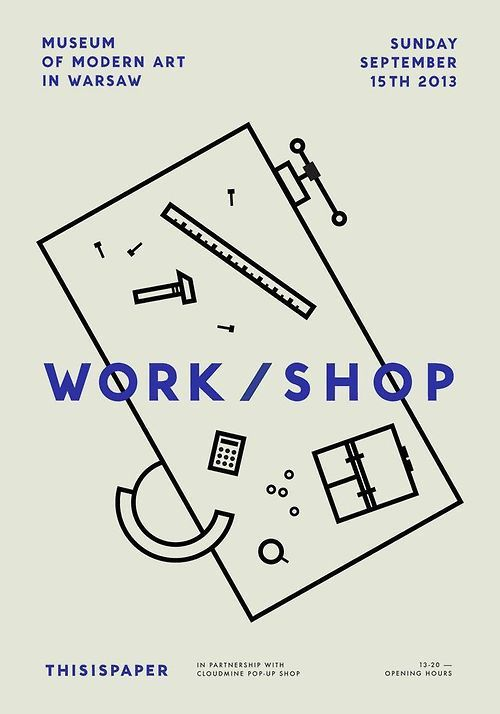 Museum of Modern Art in Warsaw Work/shop Poster