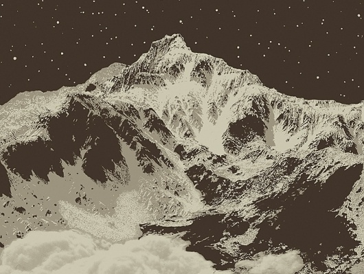 Snowblinded™ - Elk Peak Screen Print #mountain #cozzi #print #denver #colorado #anthony #poster #art #snowblinded