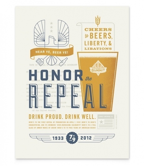 We are a graphic design studio in Minneapolis. This is our blog. | Studio MPLS #beer #summit #poster