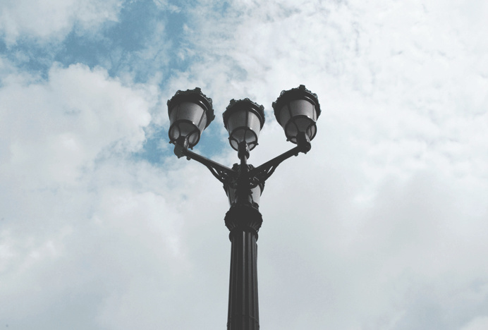 Au Quebec #quebeccity #lamp #vintage #sky #photography #street #canada #city