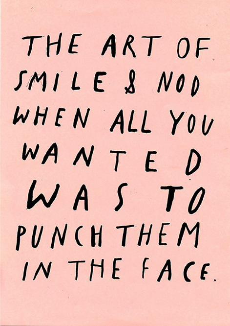 this isn't happiness™ Peteski #in #face #punch