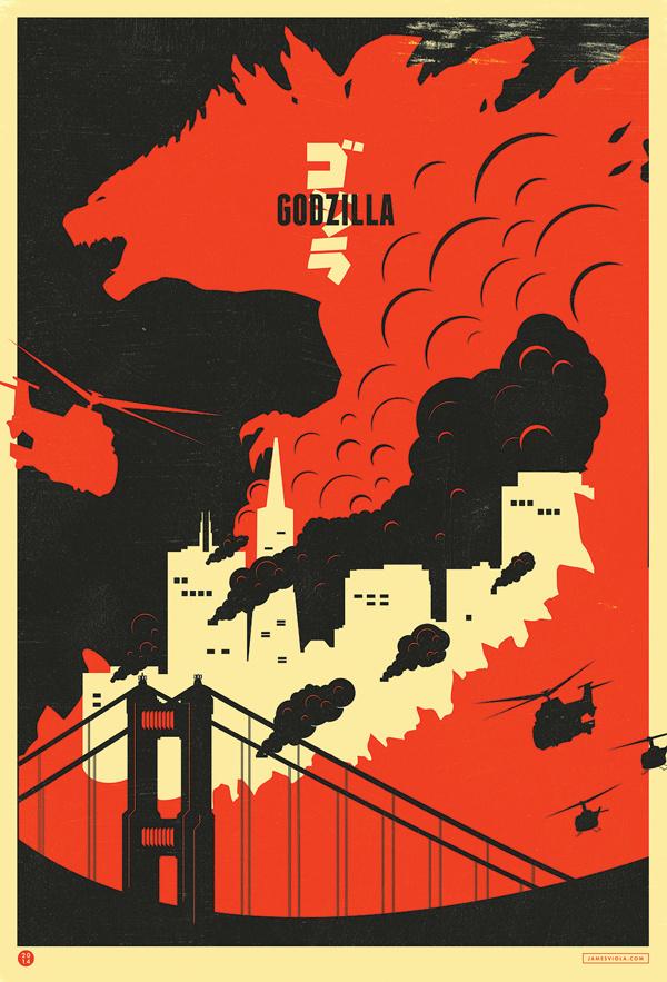 GODZILLA IMAX Fan Art Movie Poster Grand Prize WInner on Behance