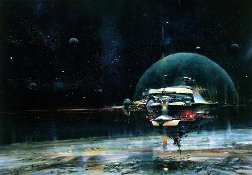 Tomorrow And Beyond #planet #fiction #fi #sci #space #illustration #ship #john #science #berkey