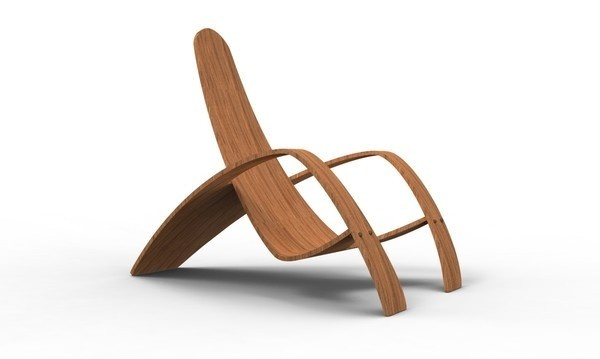 2012 Bent Plywood Lounge Chair Contemporary #interior #design #decor #home #furniture
