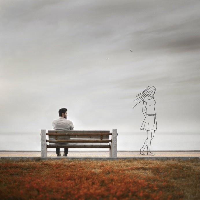 Illustration | Memory II by Hossein Zare #illustration #photography #memory