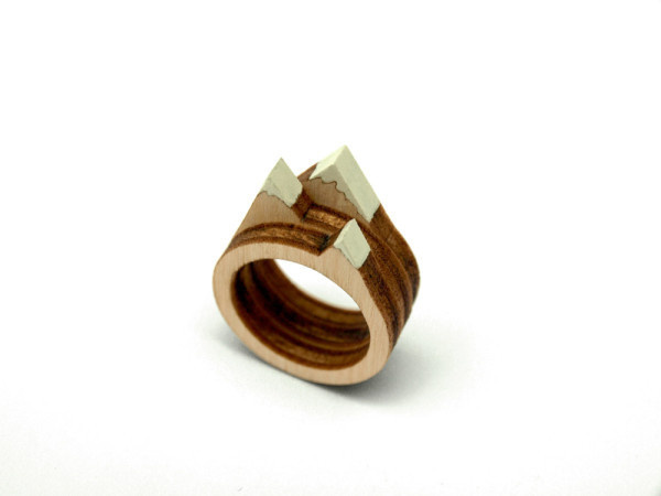 A Tiny Landscape on Your Finger: Birch Rings by Clive Roddy Photo #wood #miniature #ring #landscape