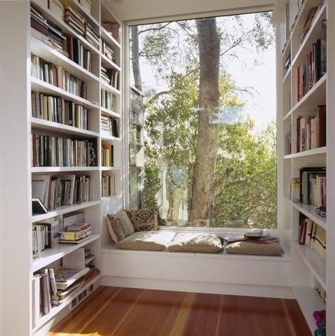 FFFFOUND!   Fancy - Artist's Studio by Safdie Rabines #relax #books #whataview