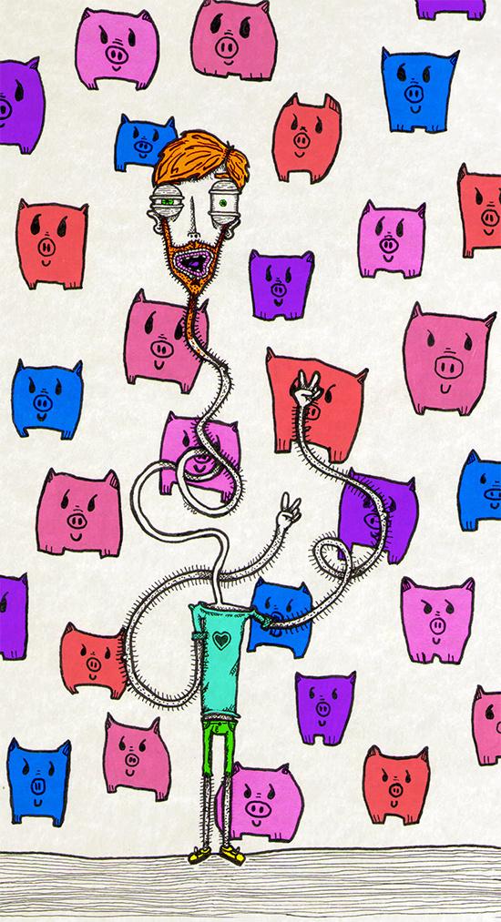 """Cerdis"" by Molly Yllom #illustration #character #design"
