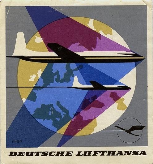 Deutsche Lufthansa | Flickr - Photo Sharing! #luggage #travel #vintage #label