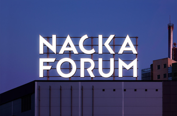 BVD – Nacka Forum #signage #nacka #forum #typography