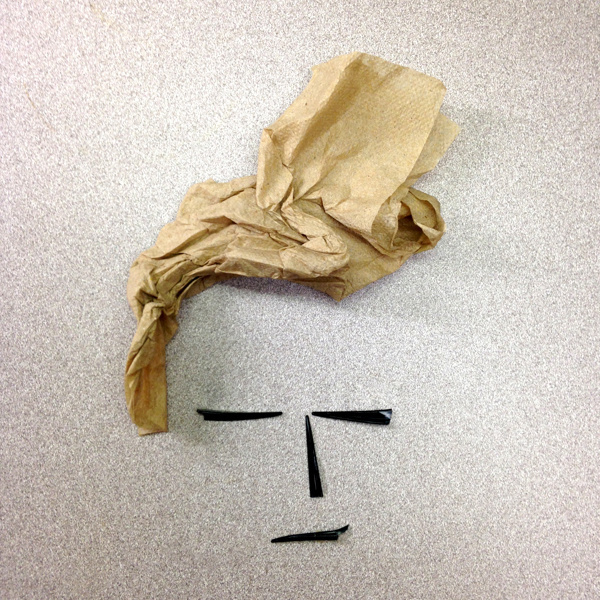 broken fork, napkin #face #design