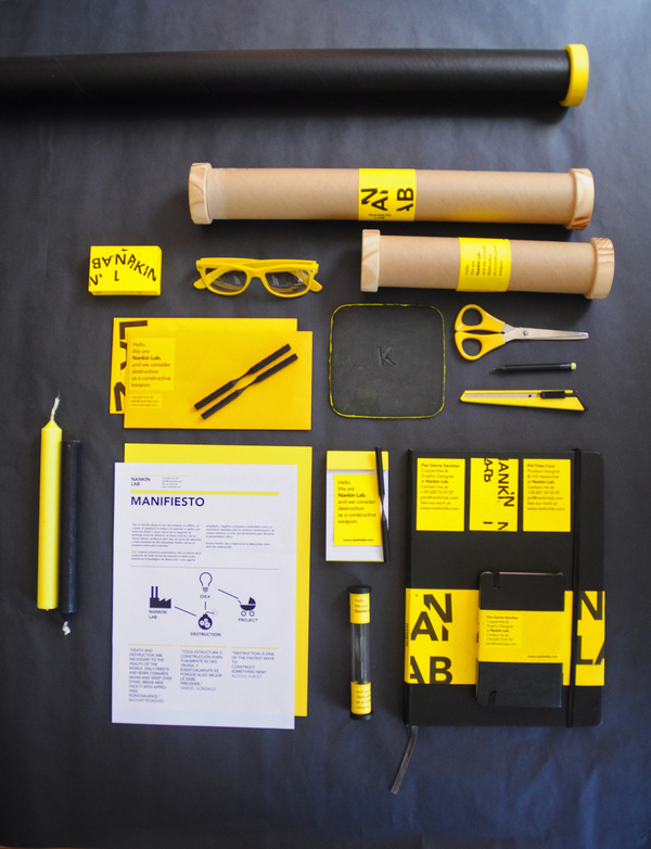 Nankin Lab on the Behance Network #deconstructive #yellow #graphic #black