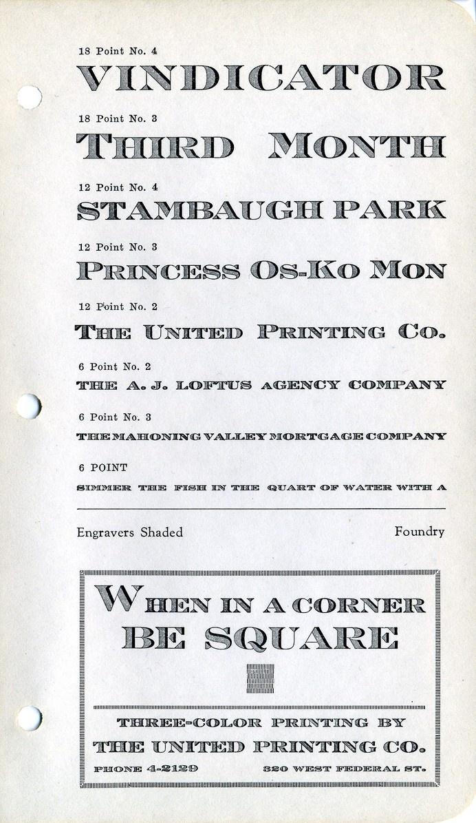 Engravers Shaded type specimen #type #specimen